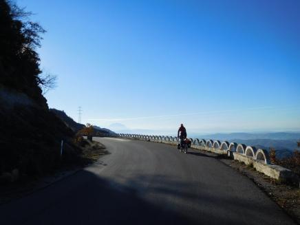 Cruising high above Elbasan